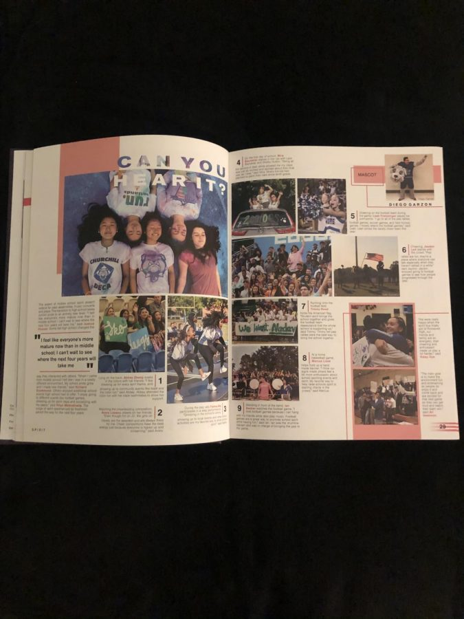 This page of the WCHS yearbook from last school year displays the