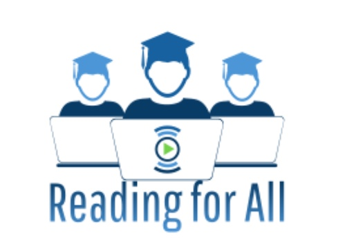 The WCHS Reading for All Club's logo, created by President Dan Wei Zuo, shows three students on computers. The club involves its members reading to elementary school students virtually.