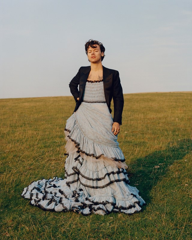 Harry Styles decided to debut his beautiful ballgown for his photoshoot with Vogue as he finds himself to be captivated by the intricacy and detail of women's clothing.