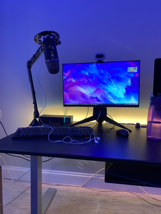 Casey Meretta's streaming set up is under construction at the moment. However, even the simplest set up allows for him to share his content with his viewers.