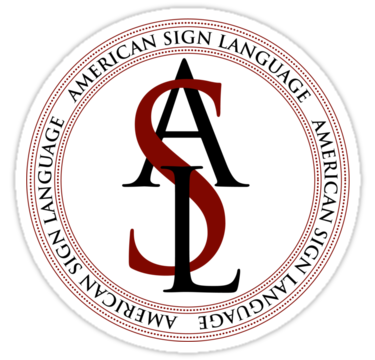 This is the ASL official logo. American Sign Language is a widely recognized sign language and many in the US are beginning to start learning it. WCHS