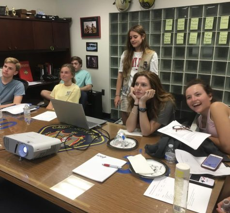 Maeve McGuire presents her Girl Scout award project to her peers in 2019. She was able to do this because of her high cookies sales, but some Scouts do not have this same opportunity due to a fall in finances during COVID-19.