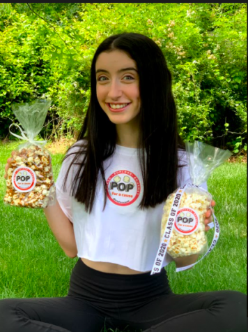 Pop for a Cause, created by Amanda Kossoff, offers popcorn in many flavors, such as zebra and kettle, in many different sizes for all type of gatherings or parties.