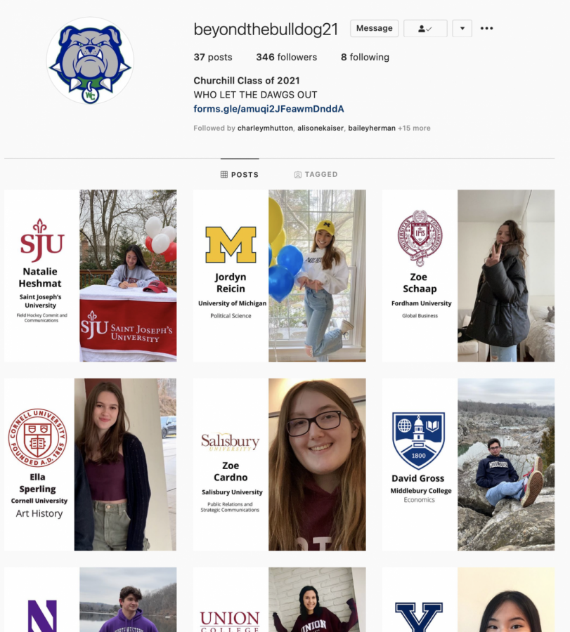 Due+to+the+COVID-19+pandemic%2C+the+2021+SGA+created+the+Beyond+the+Bulldog+Instagram+account.+This+account+celebrates+seniors+who+have+committed+to+colleges.