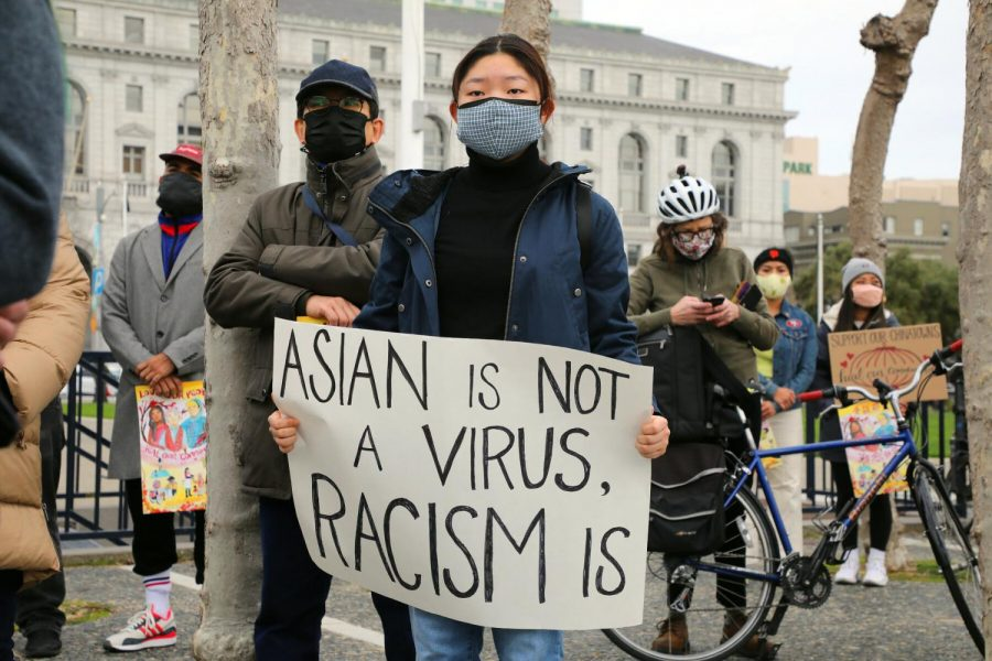 With+anti-Asian+violence+on+the+rise%2C+groups+have+come+together+and+protested+the+recent+injustices.+This+particular+compaign+was+for+Vicha+Ratanapakdee+who+died+after+being+violently+slammed+into+on+his+morning+walk.+