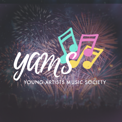 The Young Artists Music Societys logo on their website. YAMS is a student-led group that aims to spread greater access to music education.