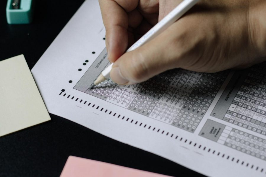 AP exams are usually taken in a large test booklet that students write in, but with virtual AP exams, its harder to do some types of questions, especially ones that require students to show work.