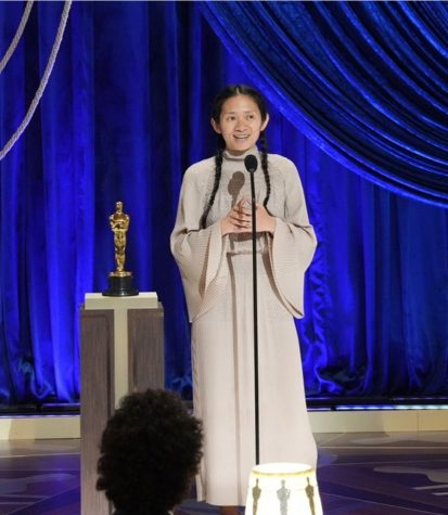 """Chloé Zhao, Director of """"Nomadland,"""" made Oscar history as the first woman of color to be nominated and to win an Academy Award for best director. Zhao is also only the second female director to win an Oscar since Kathryn Bigelow for """"The Hurt Locker"""" in 2010."""