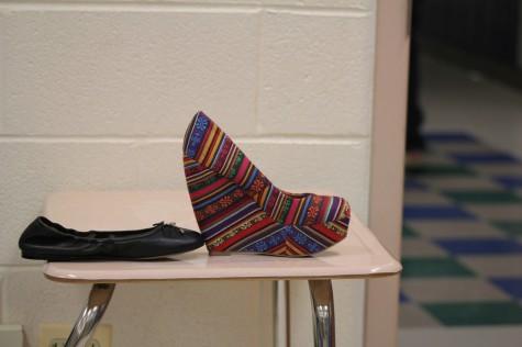 Teenagers tired of wearing high heels