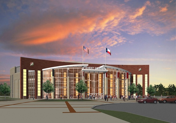The new event center will offer a local venue for large scale events.