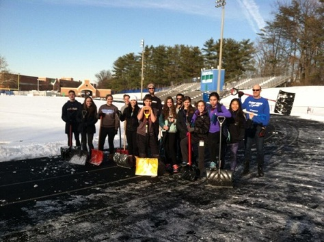 Track and field struggles with inclement weather