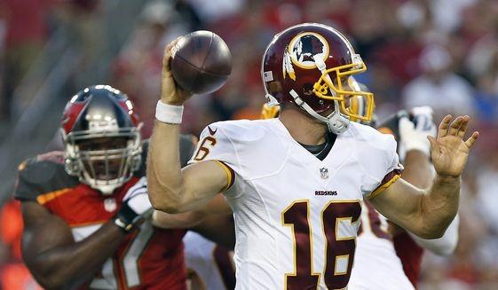 Colt McCoy takes over starting job for Redskins