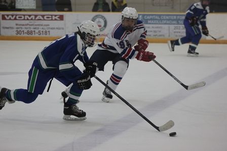 Dawgs pounce on Patriots in hockey victory