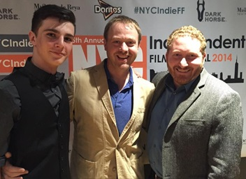 Senior Aidan Gray (left) and Scott Selman (right) founded Cue93 studios.  One of their films was selected for a New York Film Festival.