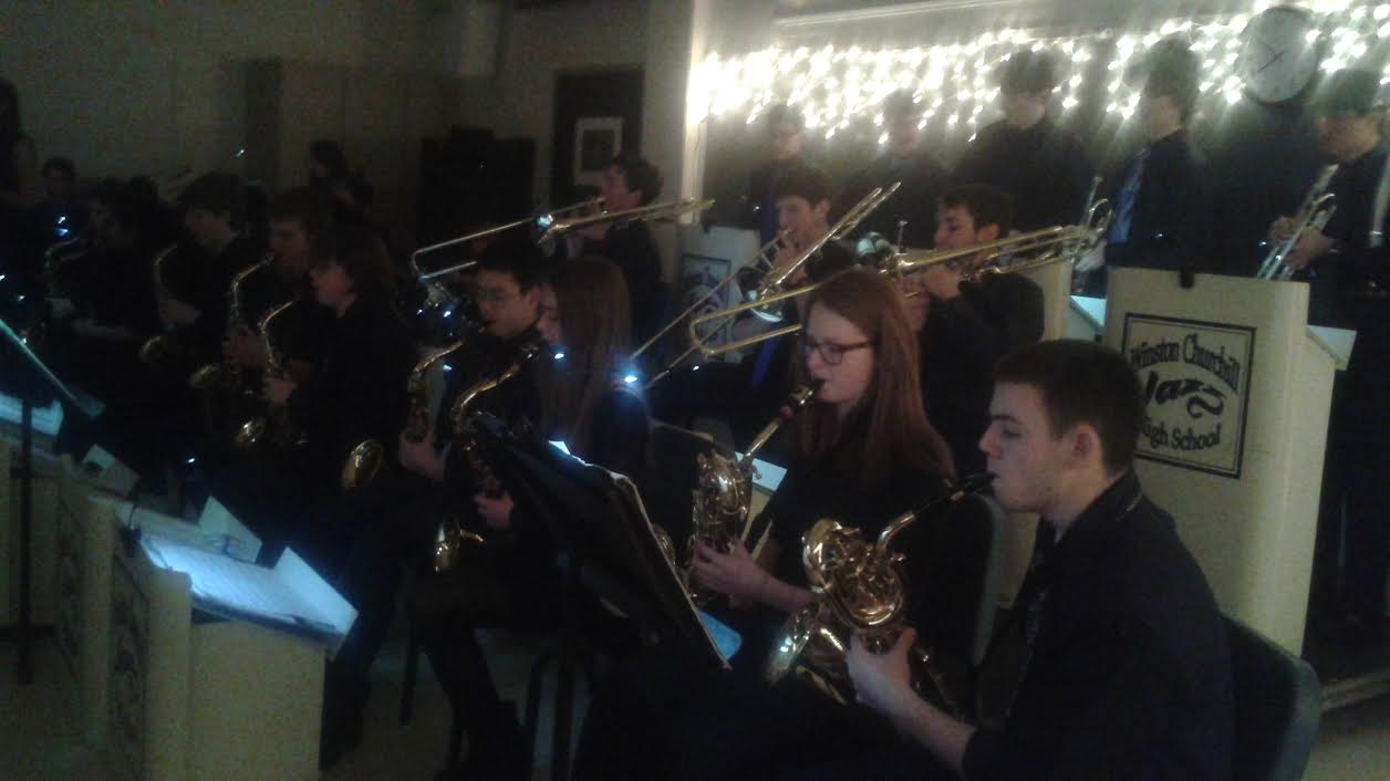 Members of the CHS jazz ensemble participated in its annual coffeehouse Dec. 12.
