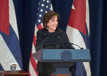 Roberta Jacobson, senior Gil Jacobson's mother, serves as the Assistant Secretary of State for Western Hemisphere Affairs.