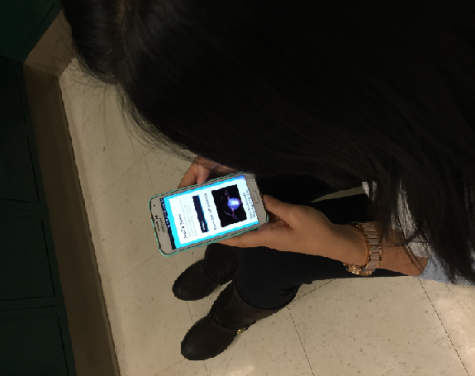 CHS students often check MoCoSnow through the Twitter and Facebook apps on their phones.