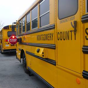 MCPS uses cameras to monitor the safety of other drivers and prevent vehicles from crossing the bus when the stop sign is extended.