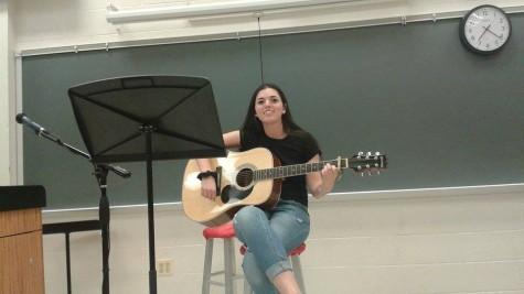 Sophomore Jackie Heller performed Riptide by Vance Joy