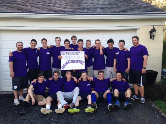 CHS baseball team dresses up in purple to support pancreatic cancer awareness.