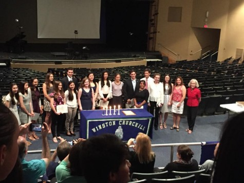 Juniors Inducted into NHS