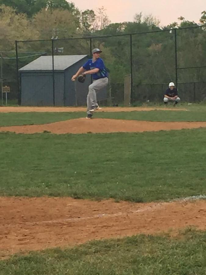 Senior Griffin Horn pitches in a losing effort to Wootton on their senior night