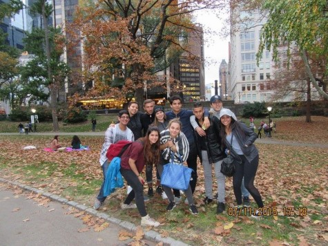 Foreign exchange students enjoy a day in the city.
