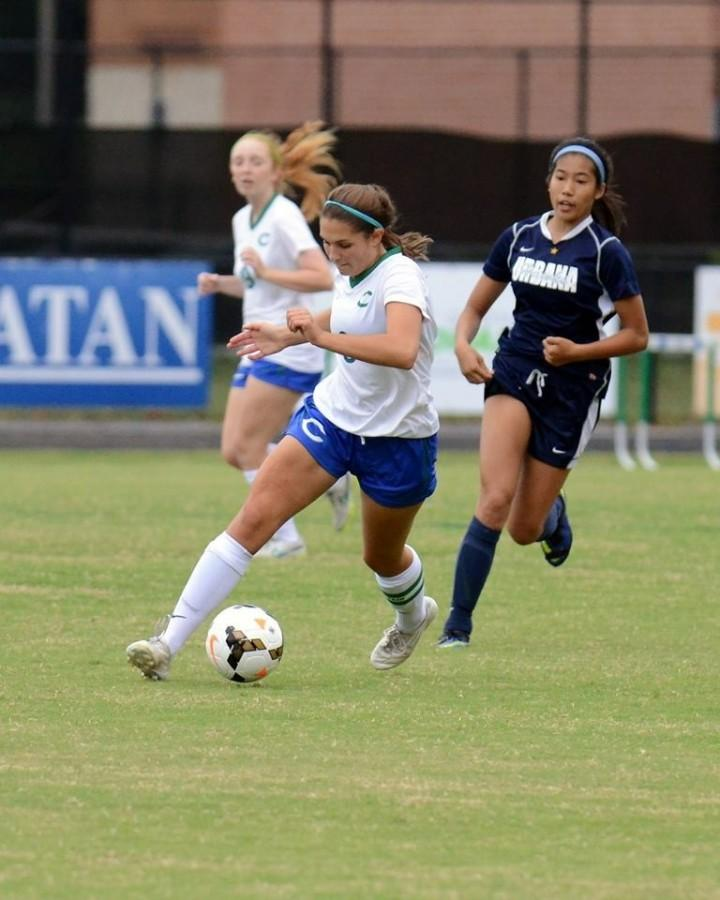 Senior captain Nicole Brodkowitz leads the girls soccer team to the state semifinal.