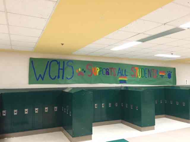 One of the many colorful posters that covered the walls and expressed the love and support the CHS community held.