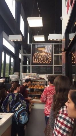 Customers gather at Milk Bar to try its rich desserts.
