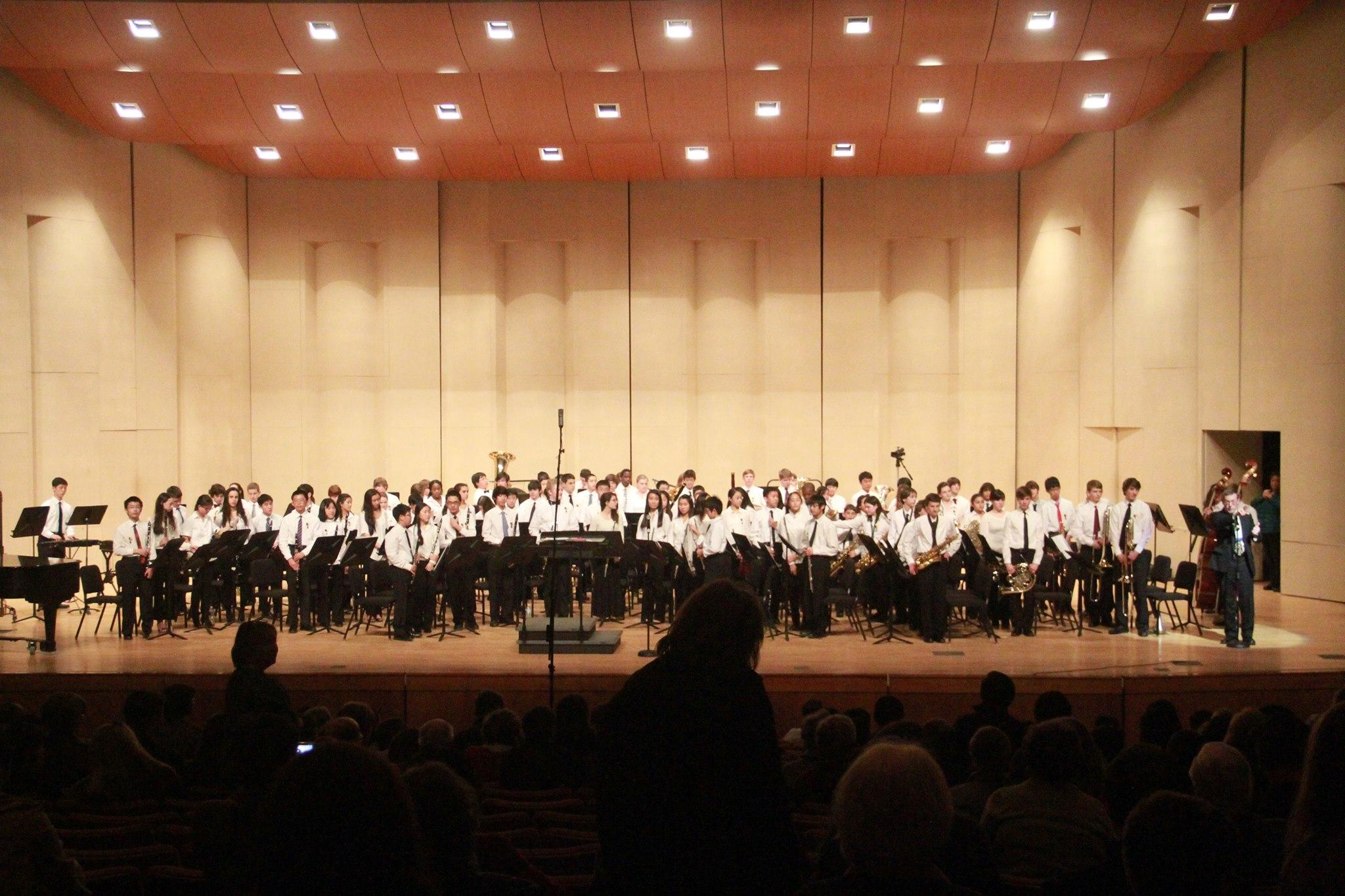 Students perform in the All-State Band performance in Feb. 2014.Some students are part of the CHS, All-County and All-State bands.