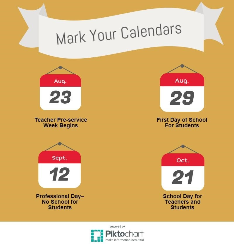 Next year's school calendar will accommodate a professional day on Sept. 12, the Muslim holiday of Eid Al-Adha. Teachers will lose a Pre-service day, and students  and staff will attend school on Oct. 21, previously a no school day.