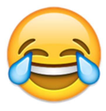 "This year the Oxford English Dictionary released the ""tears  of joy"" emoji as the 2015 Word of the Year."