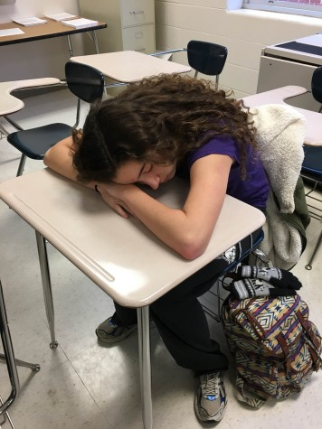 The blue light emitted from cell phones disrupts students' sleep.
