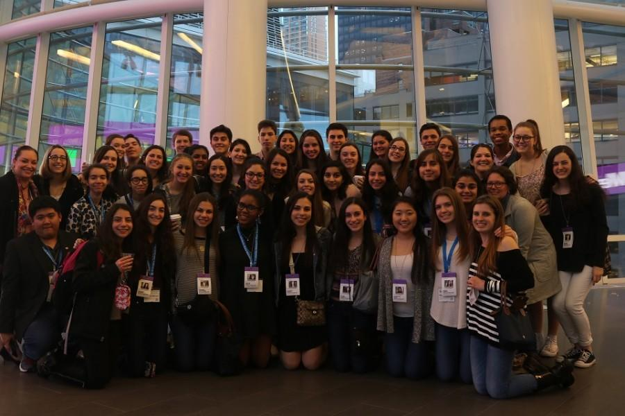 The newspaper and yearbook staffs tour the Bloomberg News headquarters on their field trip to New York City March 16-18.