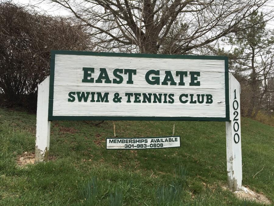 The proposed cell tower would be built on the East Gate Swim and Tennis Club's land. Revenue from the tower would be used to keep the club open.