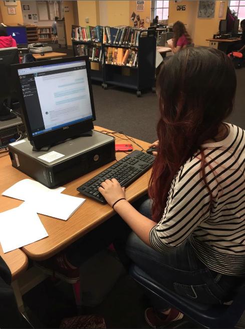 Sophomore Maria Shapiro learns entrepreneurial skills on Launch Academy.