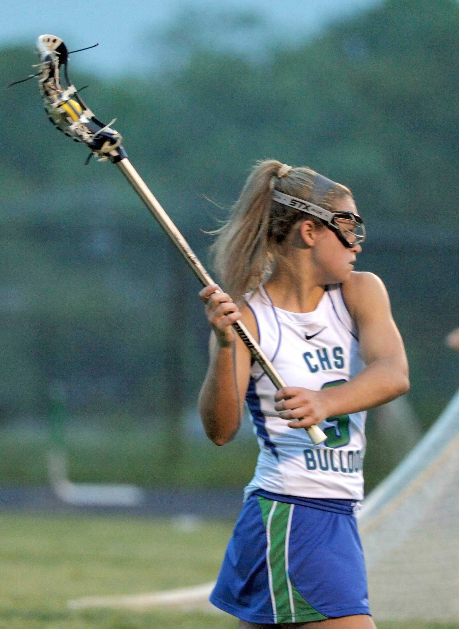 Senior Annie Moshyedi led the girls lacrosse team to a regional championship win over Urbana this season.