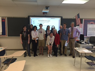 CHS Students Receive Medals for Russian Olympiada
