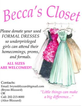 A poster for Becca's Closet.