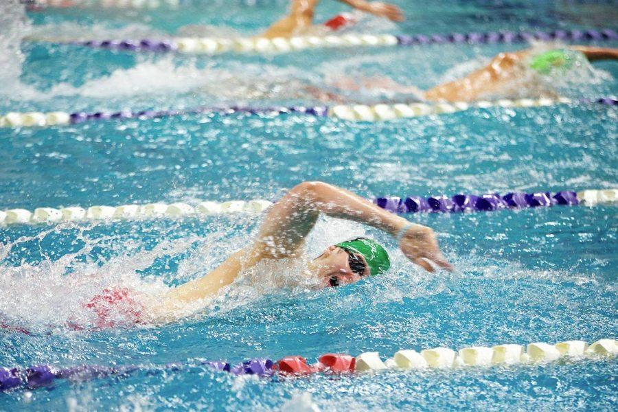 Junior Zack Einhorn received an honorable mention for the boys swim and dive team.