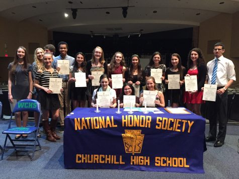 Nat'l Honors Society Induction