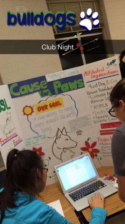 Cause for Paws is just one of the many new clubs created this year.