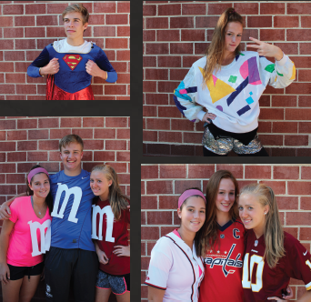 Top left: sophomore Thomas Young; top right: sophomore Brooke Barclay; bottom left: sophomores Emma Sumberg, Nick Wagman and Lauren Hando; bottom right: Sumberg, Barclay and Hando.