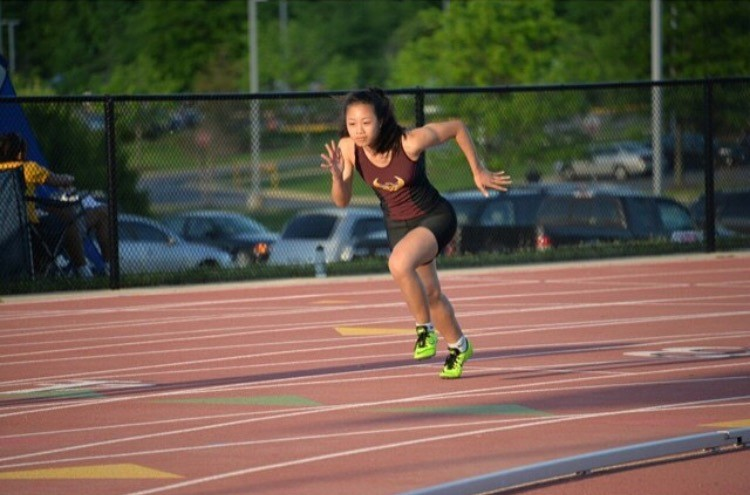 Karis Lee runs for her club team, in addition to sprinting for CHS.