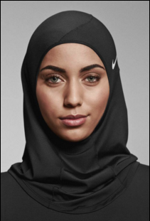 Nike's new hijab for athletic activity.