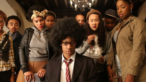 "The show ""Dear White People"" was based off of a 2014 movie by the same name, the cast of which is pictured above."