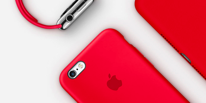 Apple has released red iPhones in order to raise money for the AIDS epidemic in third world countries.