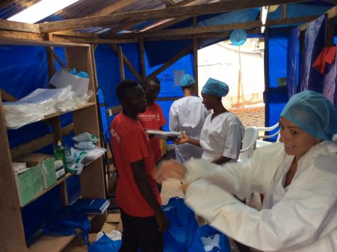 Senior twins aid healthcare efforts in west Africa