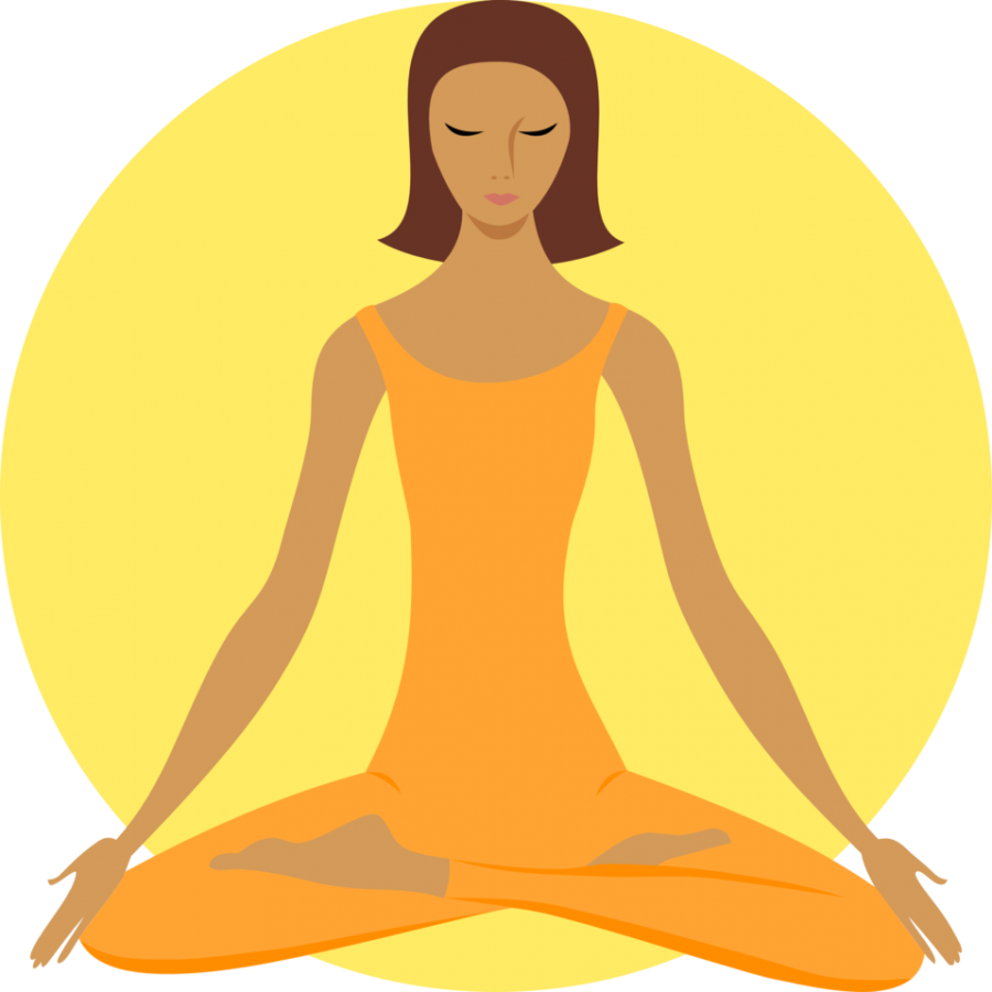 Yoga+relaxes+CHS+students